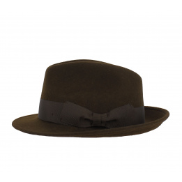 Chapeau Fedora imperméable marron