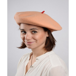 French beret - peach beret