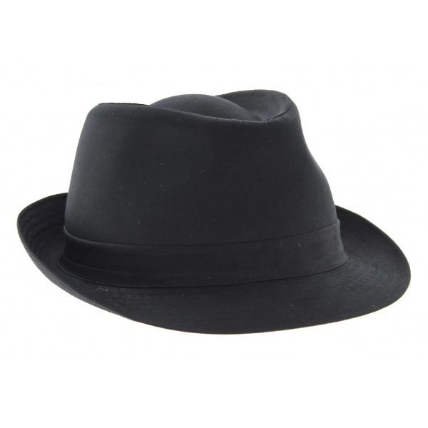 Chapeau Trilby Coton Noir