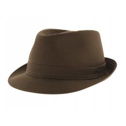 Chapeau Trilby Cotton Marron