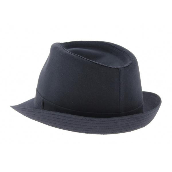 Chapeau trilby coton bleu marine