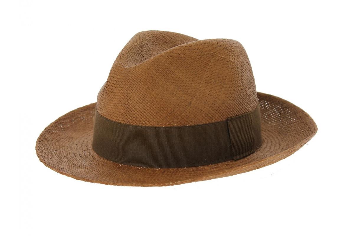 chapeau panama manabi marron chapeau traclet. Black Bedroom Furniture Sets. Home Design Ideas