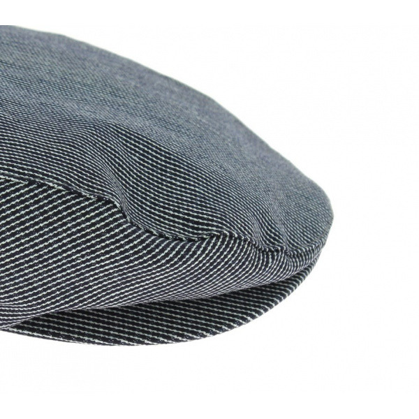 Casquette plate Barrel Navy Stripes - Brixton