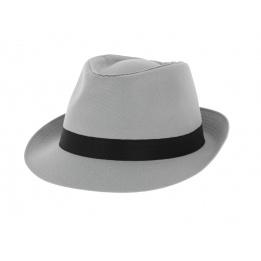 Chapeau Trilby Coton Gris