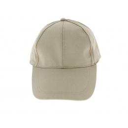 Casquette de baseball Coton beige - longue visière