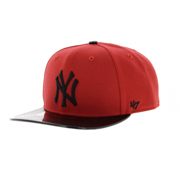 Red and black NY cap - 47 Brand