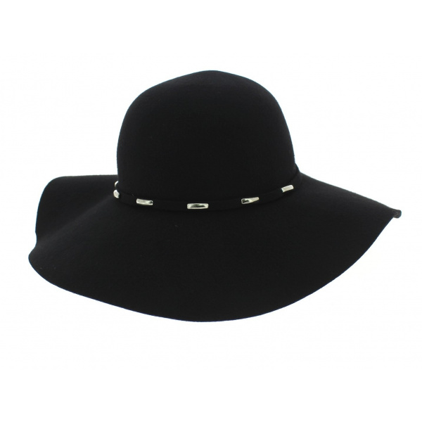 capeline joan feutre noir betmar chapeau traclet. Black Bedroom Furniture Sets. Home Design Ideas