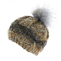 Pompon hat - Caramello