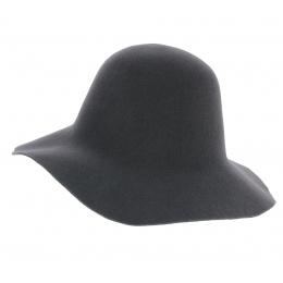 Capeline Garbo Feutre Laine Gris - No Hats