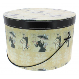 Vintage hatbox Paris New-York - Traclet