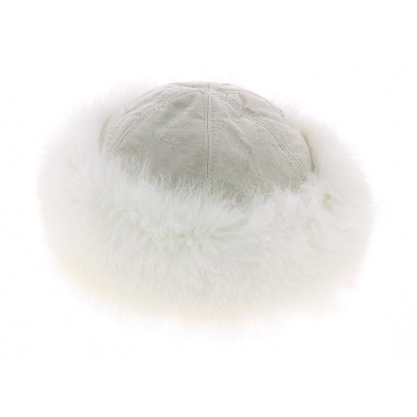 Toque fourrure blanche - Anna Rizzo - Traclet