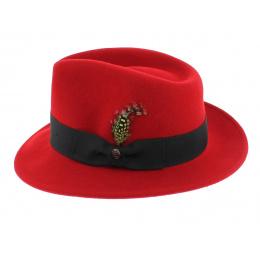 Fedora Red Pachuco Hat - Jaxon