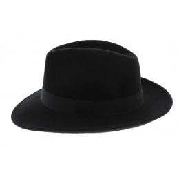 Fedora Hat Felt Wool Black Waterproof - Traclet