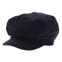 Casquette Gavroche Velours Marine - Traclet