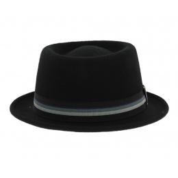 Chapeau Porkpie Crooner - Noir