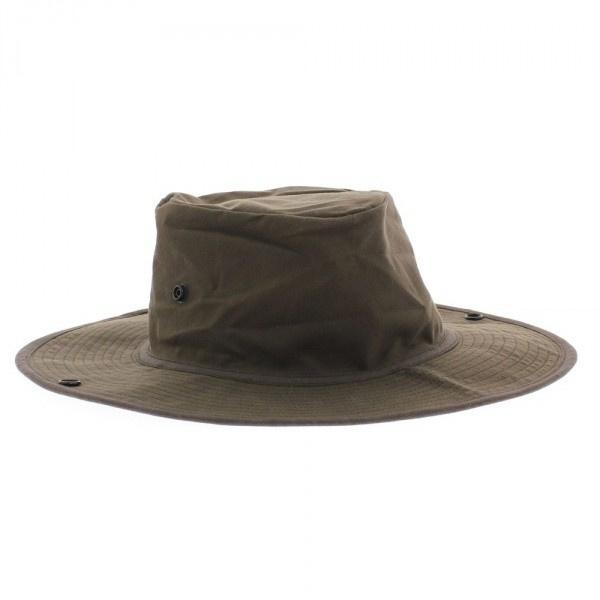 Chapeau bob huilé marron