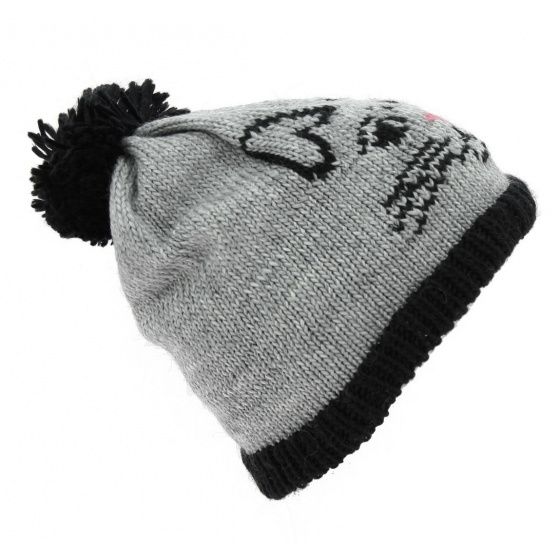 The Whiskers Hat Grey - Coal