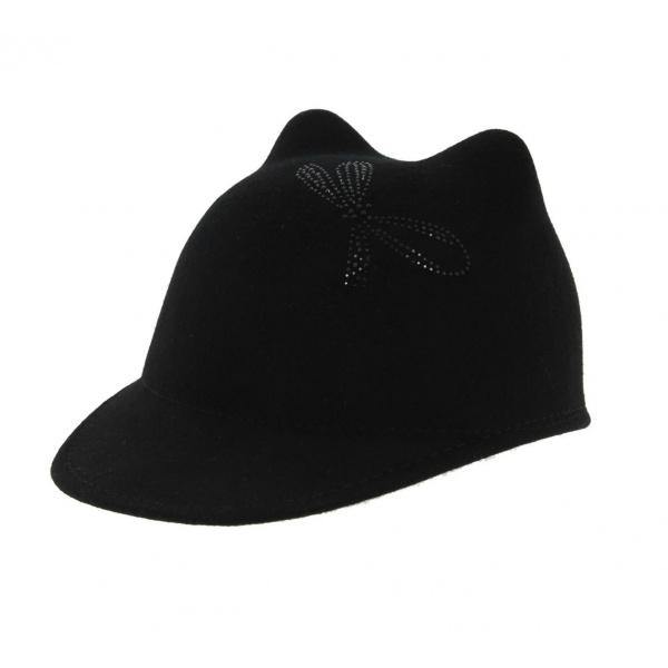 Casquette Chat - Noir
