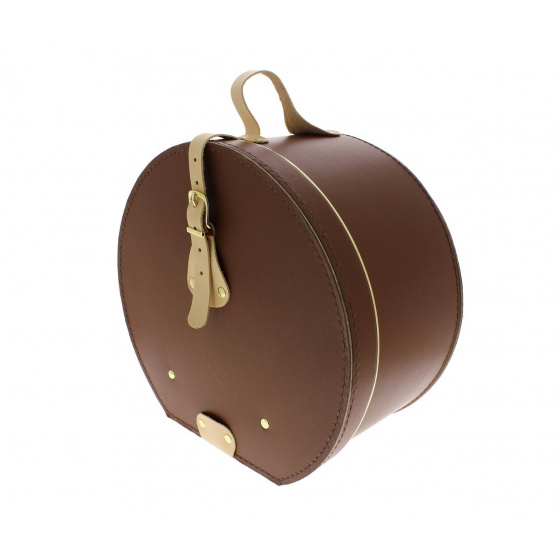 Boite à chapeaux cuir marron - Traclet