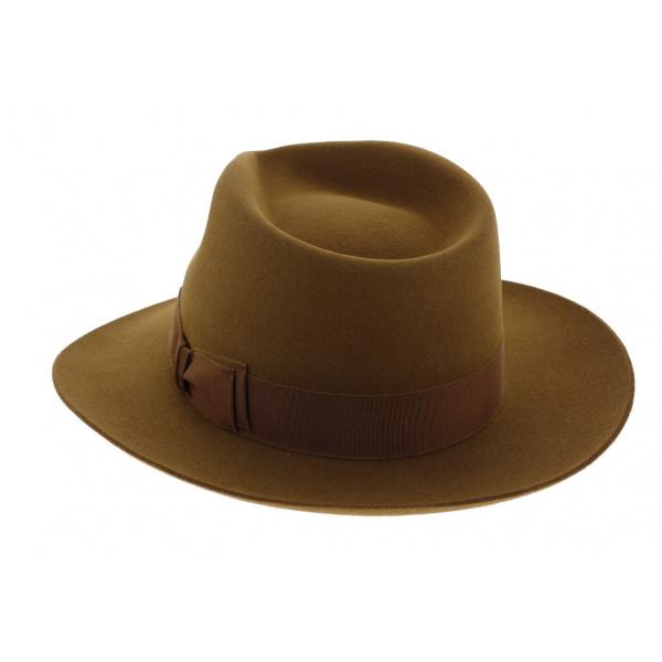 Chapeau Fédora Feutre poil de lapin Camel - Traclet