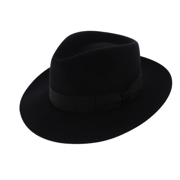 Chapeau Fédora Feutre poil de lapin Noir - Traclet