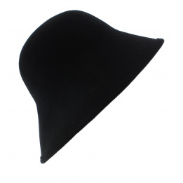 Chapeau Cloche Multi-Formes Feutre laine Noir - Scala