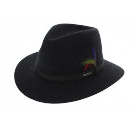 Chapeau Powell Woolfelt Anthracite - Stetson