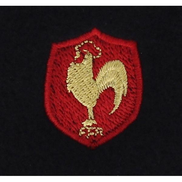 Béret officiel XV de France Laine Noir Coq brodé - Héritage par Laulhère