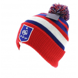 Bonnet officiel de la FFF - Rayures Tricolores