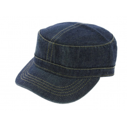 Army Dirty Denim Jean Délavé cap - Atlantis