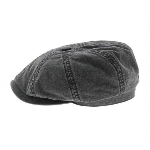 hatteras organic cotton black Stetson