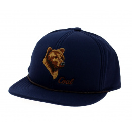 Flat visor cap The Wilderness Bleu - Coal