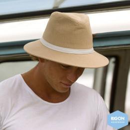 Traveller Wide Wide Brim Hat Beige Linen