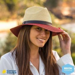 Chapeau Traveller Tune Fibres Naturelles Bicolore - Rigon Headwear