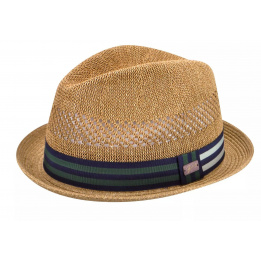 Chapeaux Trilby Berle Imitation Paille Marron - Bailey of Hollywood