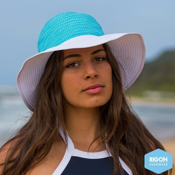 Capeline Endless Summer Polyester Bicolore Turquoise - Rigon Headwear
