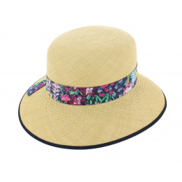 Chapeau Cloche Eleanor Panama Naturel - Christy's
