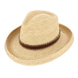 Chapeau Cowboy Raffia Naturel - John Callanan