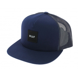 Trucker Box Cap Blue-Navy Logo - HUF