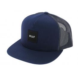 Trucker Box Cap Blue-Navy Logo - HUF