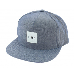 Light Blue Cotton Chambray Snapback Cap - Huf