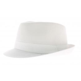 Chapeau trilby enfant coton blanc