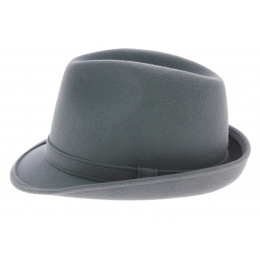Loden Grey trilby hat - Traclet