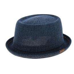PorkPie Denim Mowbray Hat Blue-Jean - kangol