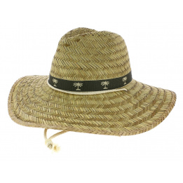 Chapeau Traveller Large Bords Saona Paille Naturel - Broner