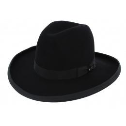 Sheridan Hat Black Bison Felt - Stetson