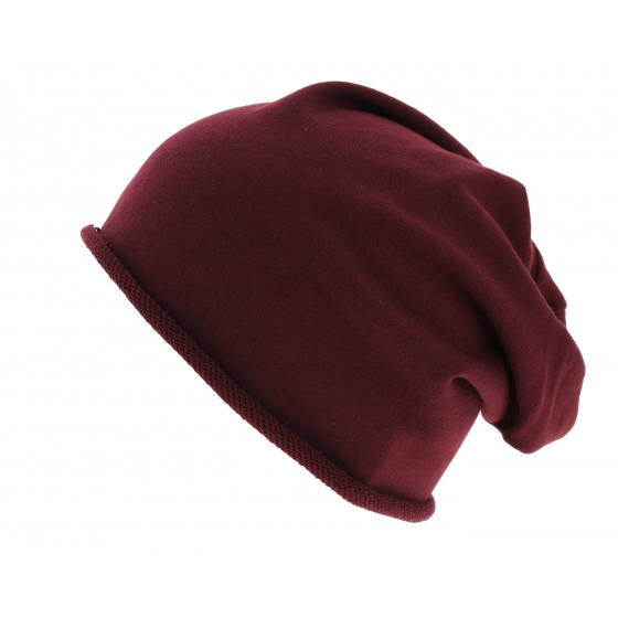 Oversize Brooklin Bordeaux Cotton Hat - Atlantis