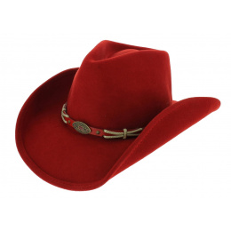 Emotionally Charged Cowboy Hat Red Felt - Bullhide