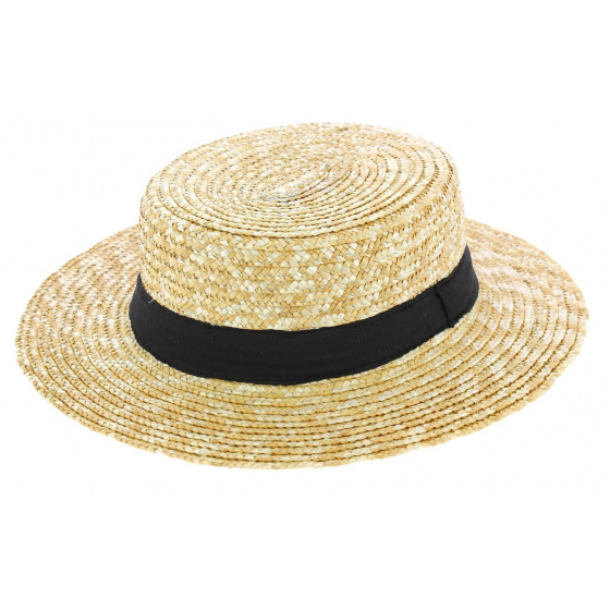 Boatman Large Sizes Natural Straw - Traclet