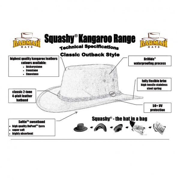 Chapeau cuir kangourou - STONY ROO